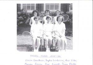 Tennis Team 1955-56