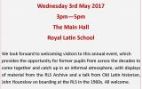 RLS Annual Archive Open Day - Wednesday 3rd May 2017