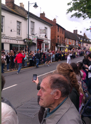 A last picture of David Knibbs July 2012 - Olympic Torch in Buckingham